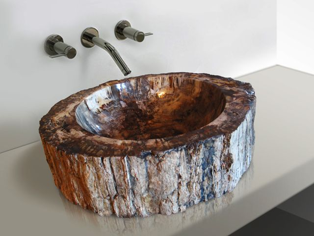 Petrified Wood Vessel Sink.