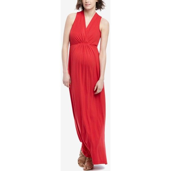 Motherhood Maternity Maxi Dress (€21) ❤ liked on Polyvore featuring dresses, classic red, maxi length dresses, red dress, motherhood maternity, maxi dress and red maxi dress