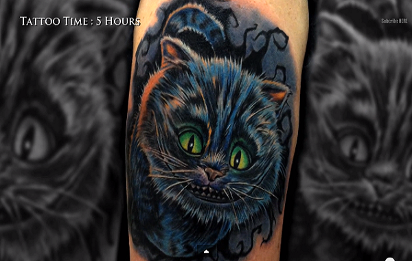 Hang Out With Sullen Tv And Mike Devries In This Tattoo Timelapse Watch Subscribe Http Youtu Be Ffdjrs7 Tattoos Cheshire Cat Tattoo Cat Tattoo Designs