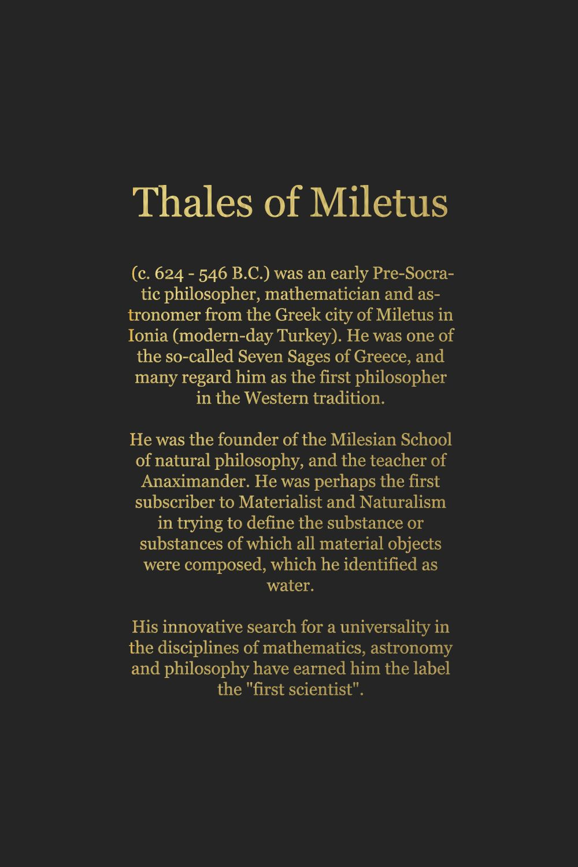 Philosophy Thales Of Miletus C 624 546 B C Philosophy Quotes Philosophy Theories Philosophy Books