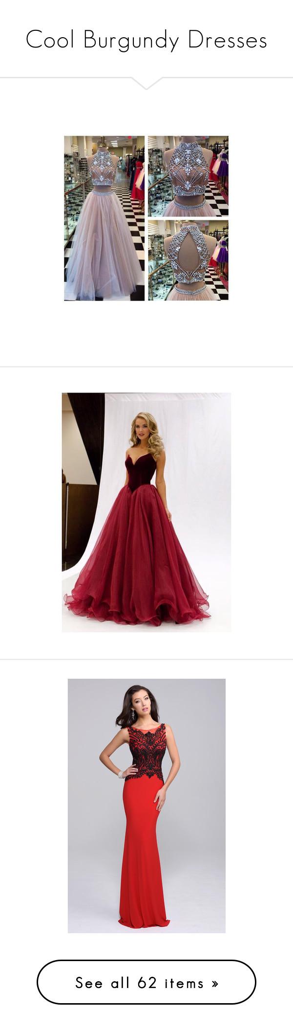 Cool burgundy dresses
