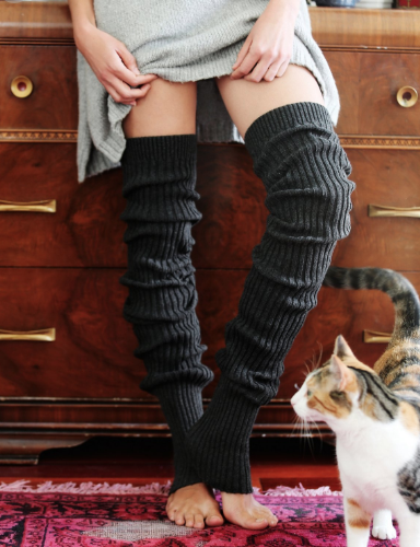 black warm legwarmers