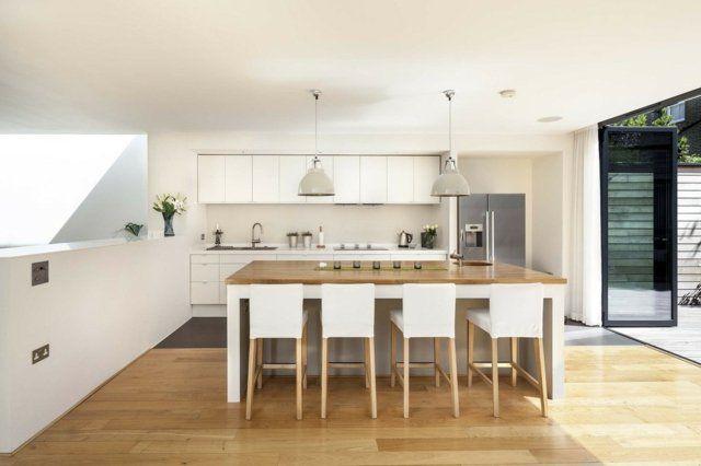 73 idées de cuisine moderne avec îlot, bar ou table à manger - Cuisine Moderne Design Avec Ilot