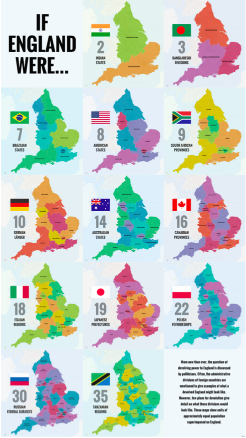 Big Map Of England.40 Ways To Carve Up England Maps England Map Map Of Britain