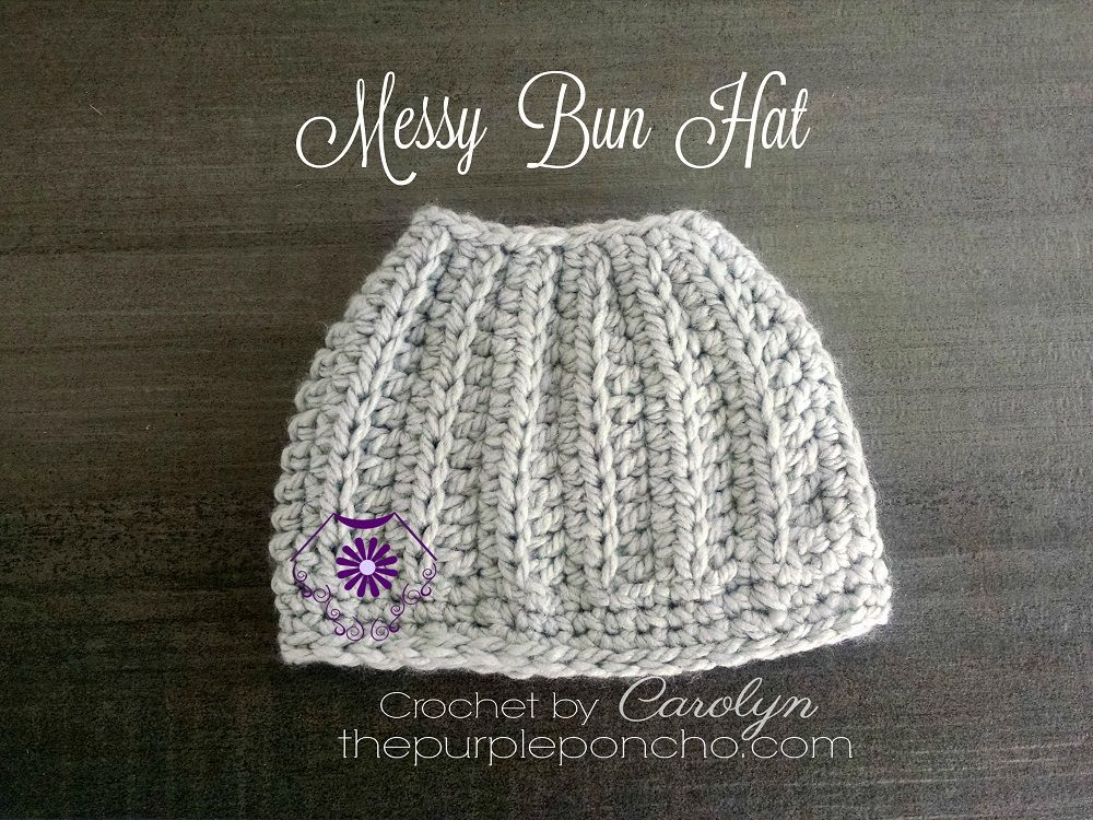 The Best Messy Bun Crochet Hat Patterns – The Definitive Ponytail ...