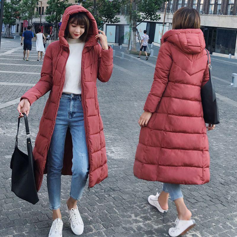 03d5cb95 Talla grande 6XL plumón chaquetas 2018 moda mujer invierno abrigo ...