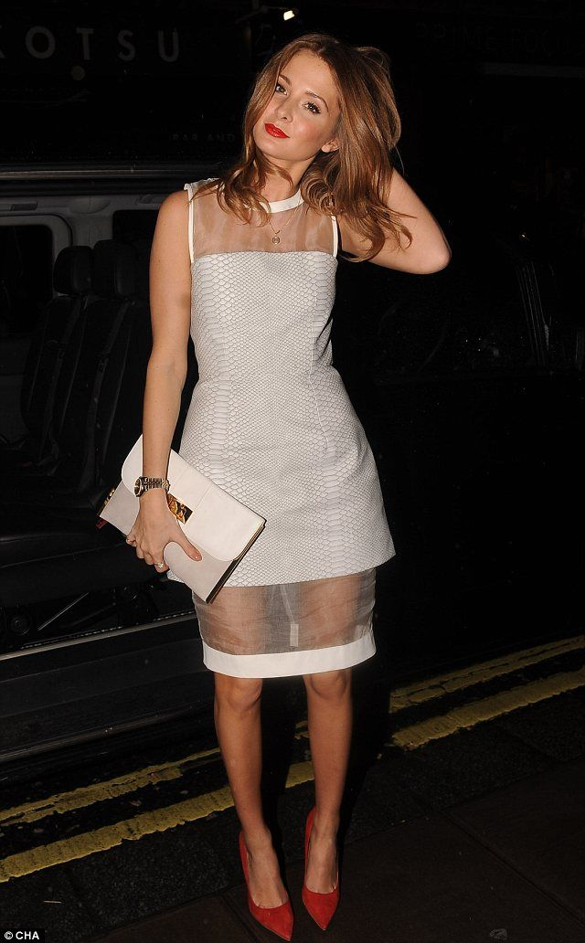 Millie Mackintosh from Made In Chelsea in her engagement party dress