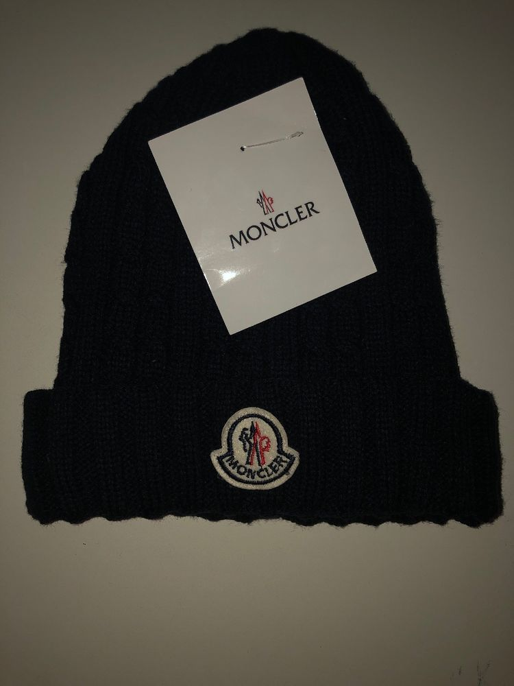 New Moncler Men S Luxury Wool Cashmere Blue Beanie Hat One Size Made In Italy Fashion Clothing Shoes Accessori Blue Beanie Hat Blue Beanie Mens Beanie Hats