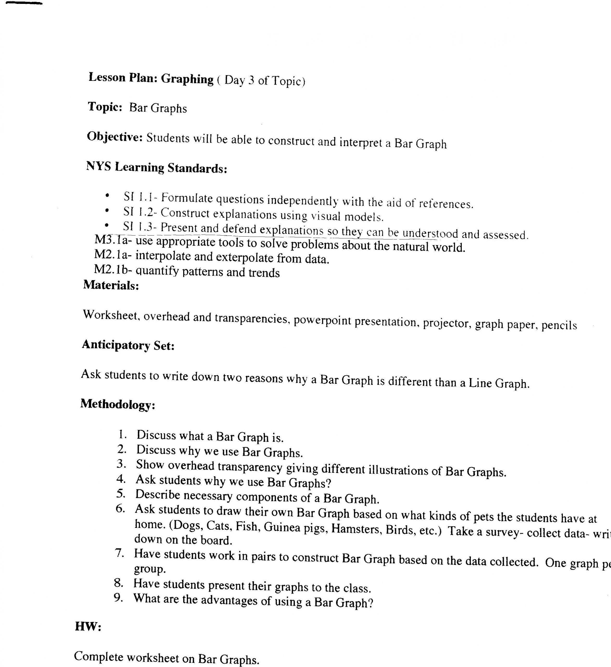 Interpreting Graphs Worksheet Science Middle School