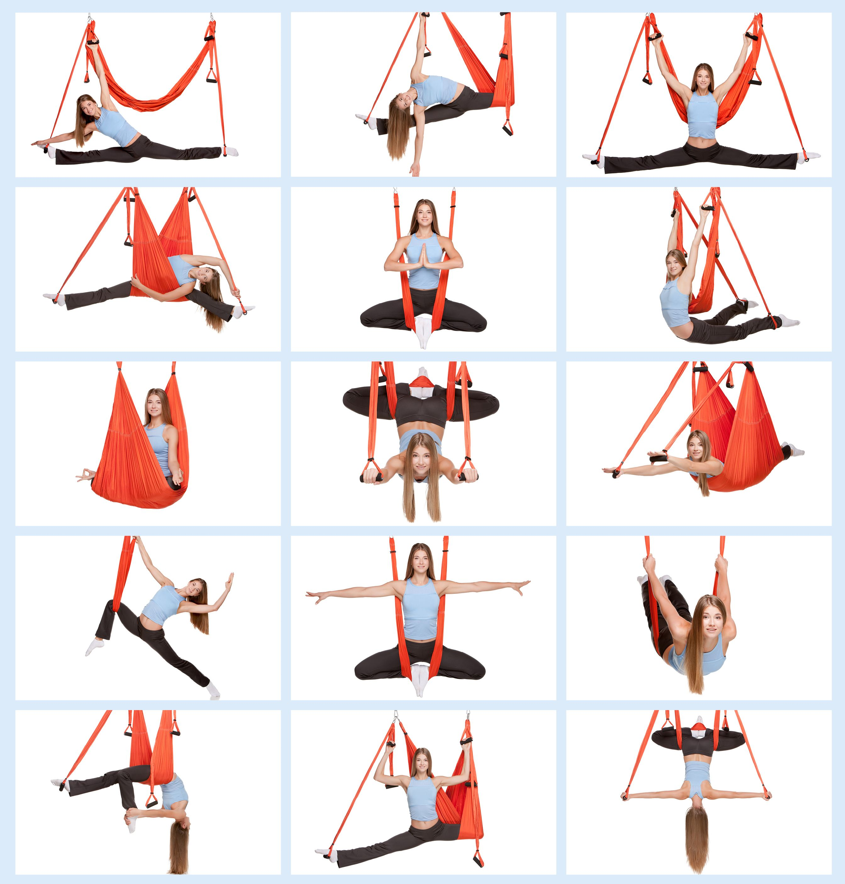 Aerial Yoga Swing Anti Gravity Yoga Swing With Daisy Chain Aerial Yoga Hammock Yoga Hammock Yoga Swing