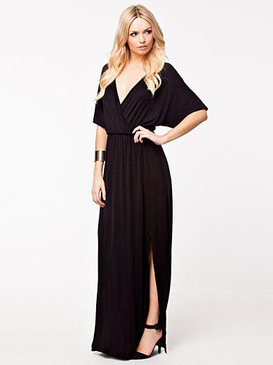 Kimono Wrap Jersey Maxi Dress - Club L - Musta - Juhlamekot - Vaatteet -  Nainen - Nelly.com b666f0208a