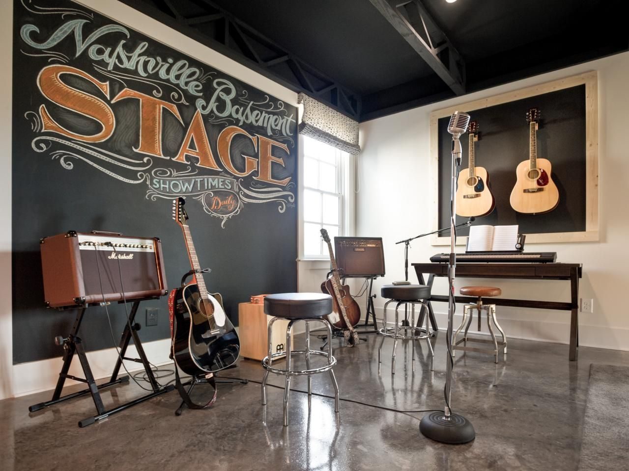 stage pictures from hgtv smart home 2014 home music on smart man cave basement ideas id=72418