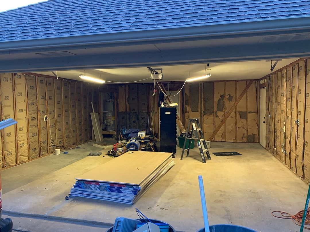 Moving Right Along Walls Insulated Ceiling Insulated And Drywall Being Hung Drywall Should Be Wrapped Up This Weekend Followed By New Garage Door Paying So