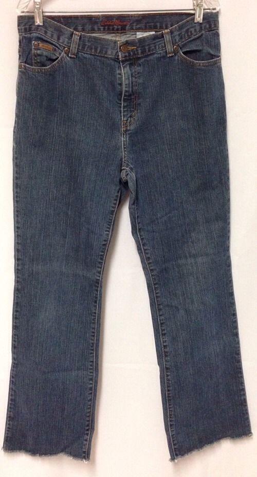 c015a2baeee Eddie Bauer Jeans 14 Tall Womens Stretch Bootcut 34.5