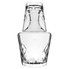 8.25 H 2 Piece Set Hand Cut Mouth Blown Made in Europe Barski 25 oz Bedside Night Carafe//Desktop Carafe with Tumbler Glass Crystal