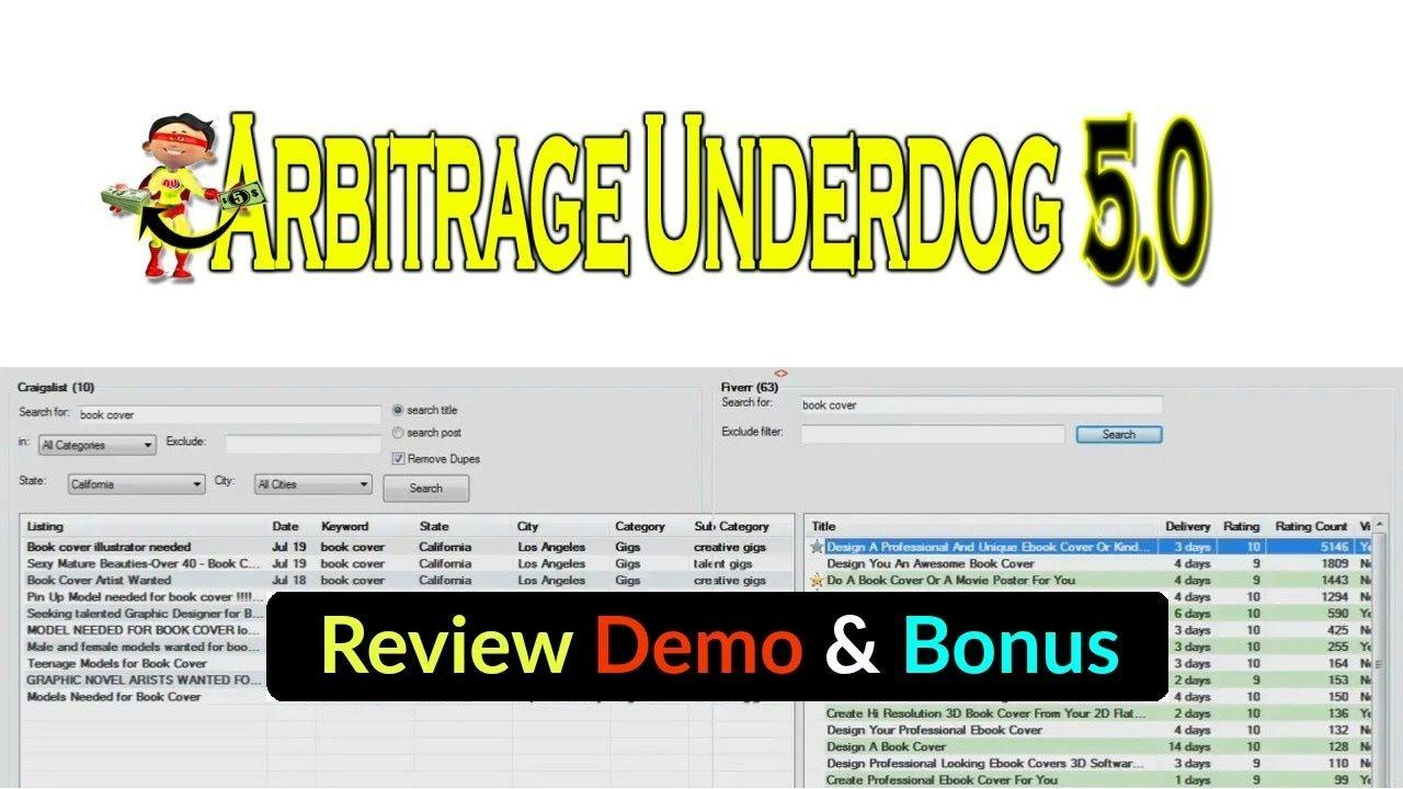 Arbitrage Underdog 5 0 Review Demo Bonus Unfair Advantage With Craigsl Underdog Reviews Bonus