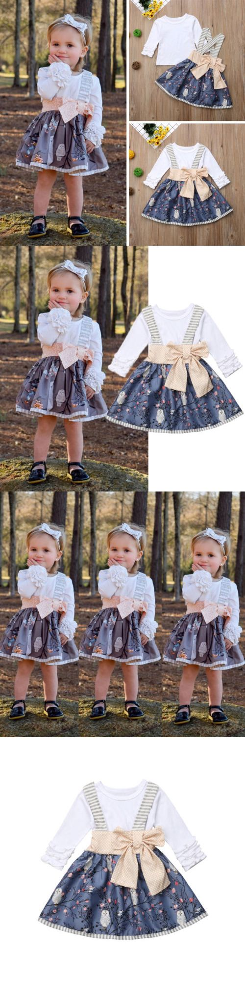 5382ed310f8 Skirts 147214  Cute Newborn Kids Baby Girls Top T-Shirt Suspender Skirt  Dress Outfit Clothes Us -  BUY IT NOW ONLY   11.99 on  eBay  skirts  newborn   girls ...
