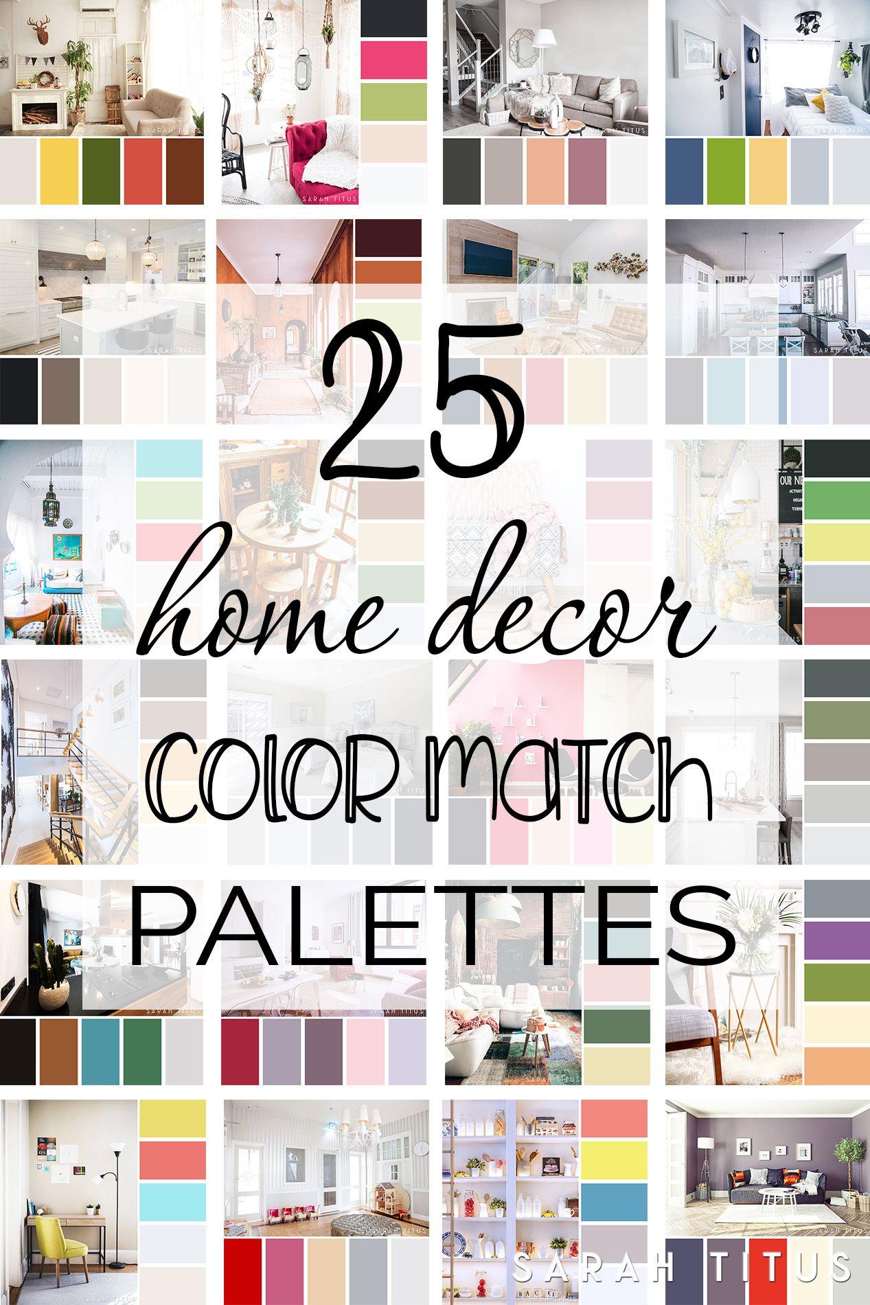 25 Home Decor Color Match Palettes Colorful Decor Home Decor