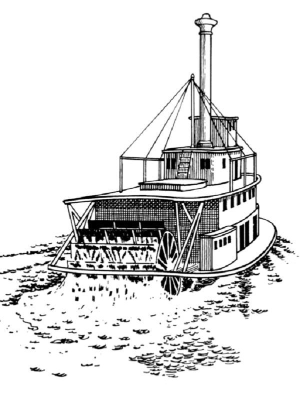 steamboat coloring pages | river boat coloring pages | Coloring Kids | Maupin ...