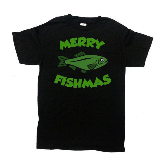 Funny Christmas Gifts For Fishermen Xmas Clothing Fishing T Shirt ...
