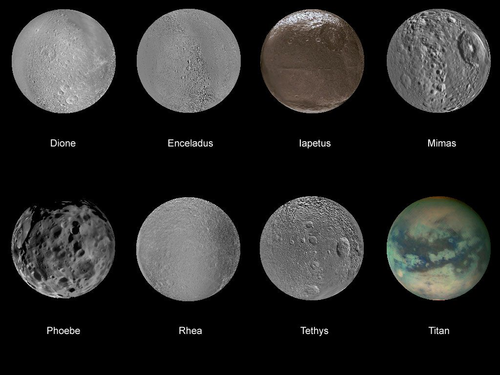 Saturn Has 62 Moons These Are Just A Few Of Them