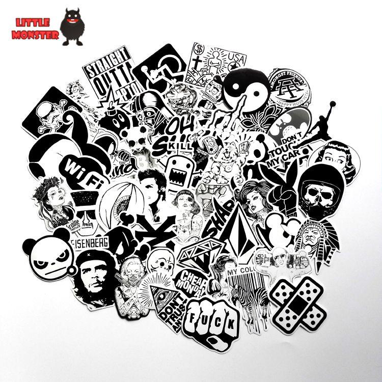 60 PZ mix nero sporco styling cattivo scherzo sessuale ragazza sticker bomb impermeabile graffiti Doodle sticker skateboard decal toy sticker