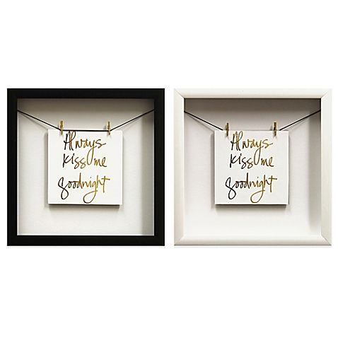 Romance The Mood At Home All The Time With The U201cAlways Kiss Gold Foil Wall  Décor. This Art Features An Inspirational Saying Mixed With A Gold Foil  Metallic ...
