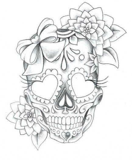 Trendy Tattoo Sleeve Black And White Sugar Skull Ideas Sugar Skull Tattoos Skulls Drawing Mexican Skull Tattoos