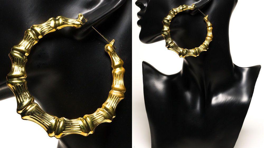 Oversize Giant Big Large Huge Hoops Gold Chunky Textured Cricle Hoop Earrings Hoop Earrings Earrings Statement Necklace
