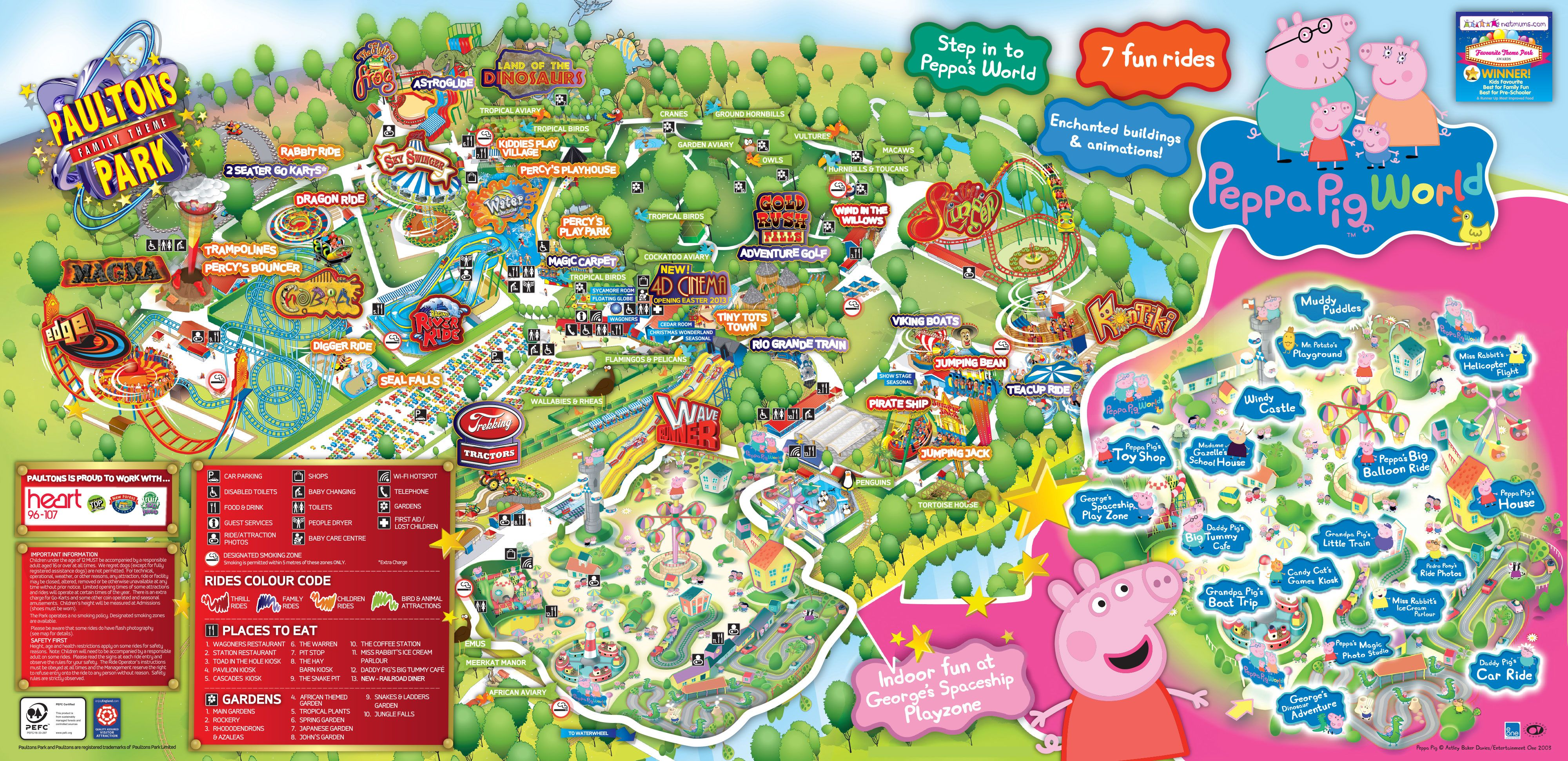 Here is our 2013 Paultons Park Home of Peppa Pig World Park map