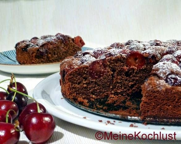 Meine Kochlust: Schokoladen-Kuchen mit Kirschen