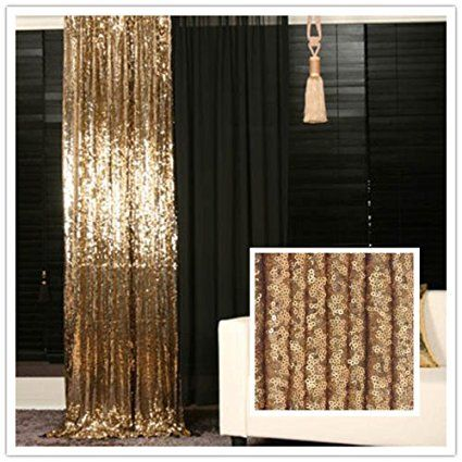 Amazon Com Trlyc 5ft 7ft Gold Shimmer Sequin Fabric Photography