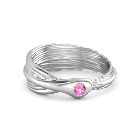 $225 - Birds of a Feather Custom Ring w/ Pink Tourmaline