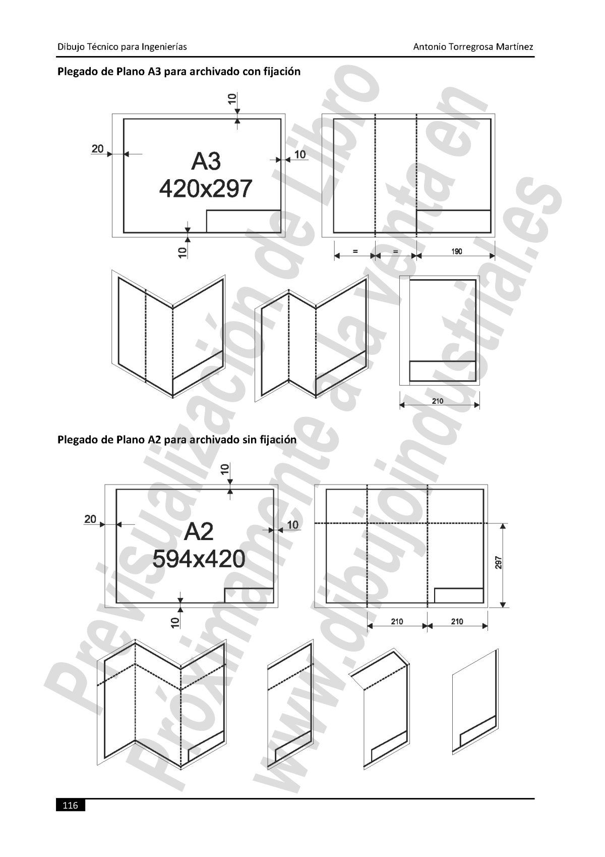 Dibujo Tecnico Industrial Y Civil 7 8 Plegado De Planos Tecnicas De Dibujo Planos Rotulacion