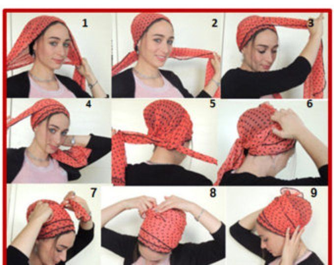 How To Tie My SCARF TICHEL,Hair Snood, Head Scarf,