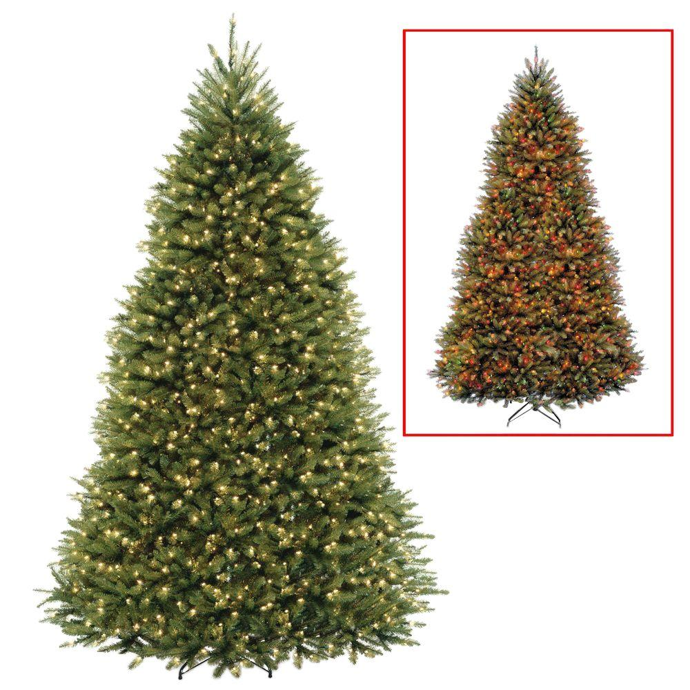 National Tree Company 9 Ft Dunhill Fir Artificial Christmas Tree With Dual Color Led Lights Duh 3 Pre Lit Christmas Tree Led Christmas Tree Fir Christmas Tree Christmas tree with dual lights white and multicolored