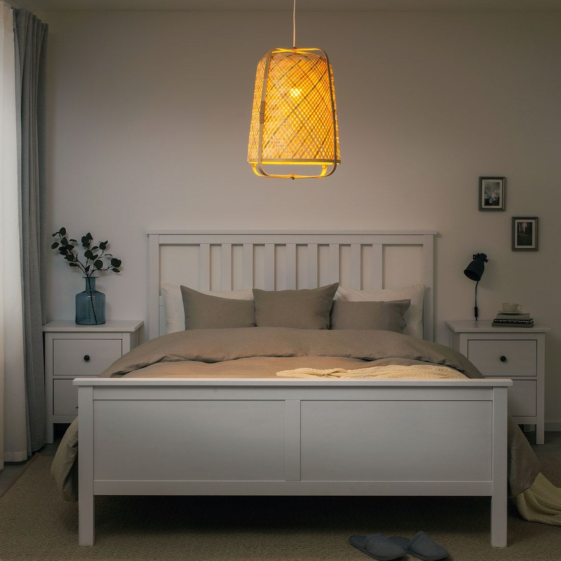 Lampadari Da Camera Matrimoniale Ikea knixhult lampada a sospensione - bambù | idee ikea, lampade
