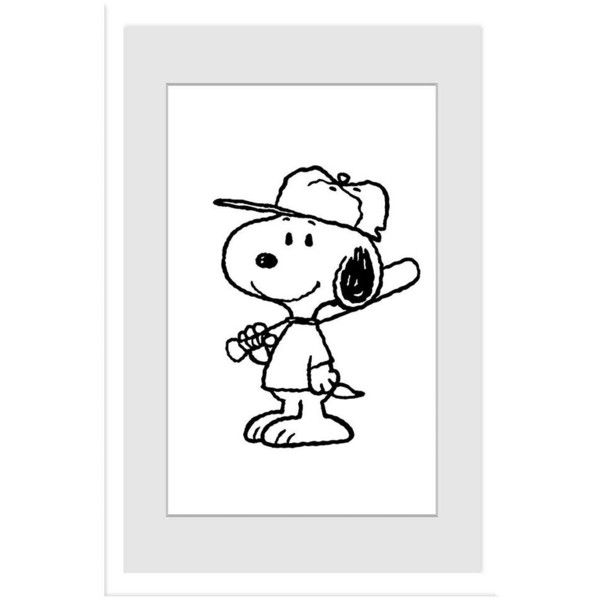 Peanuts Snoopy Baseball Player Framed Wall Art By Marmont Hill 500 Liked On Polyvore Featuring Home Home Decor Framed Art Prints Snoopy Baseball Canvas