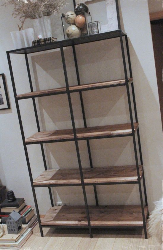 turning the vittsj shelving rustic and industrial ikea. Black Bedroom Furniture Sets. Home Design Ideas