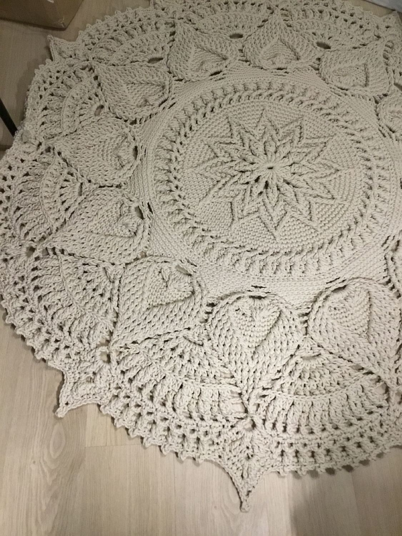 Video Tutorial Crocheting Rug Fox Text Description In Etsy In 2020 Crochet Rug Patterns Crochet Rug Crochet Home