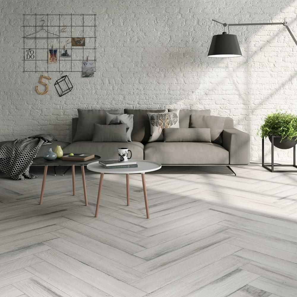 Lexington White Wood Plank Porcelain Tile Floor Decor Tile Floor Living Room Living Room Tiles White Wood Floors
