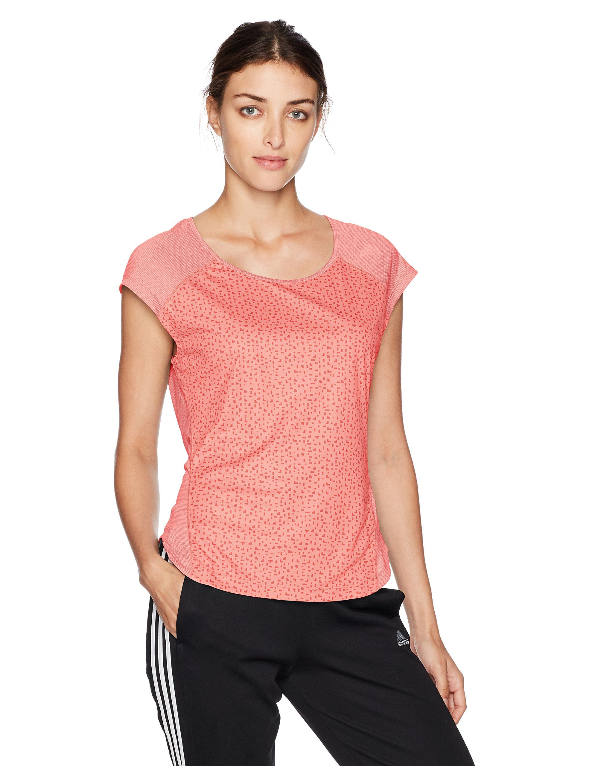 d573bed47 adidas Womens Running Supernova Tokyo Short sleeve Tee Tactile Rose Tactile  Pink Large     Details can be found by clicking on the image.