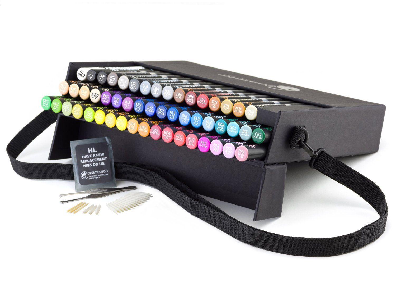 Uchida Fabric Marker Brush Tip 6-Pack Primary