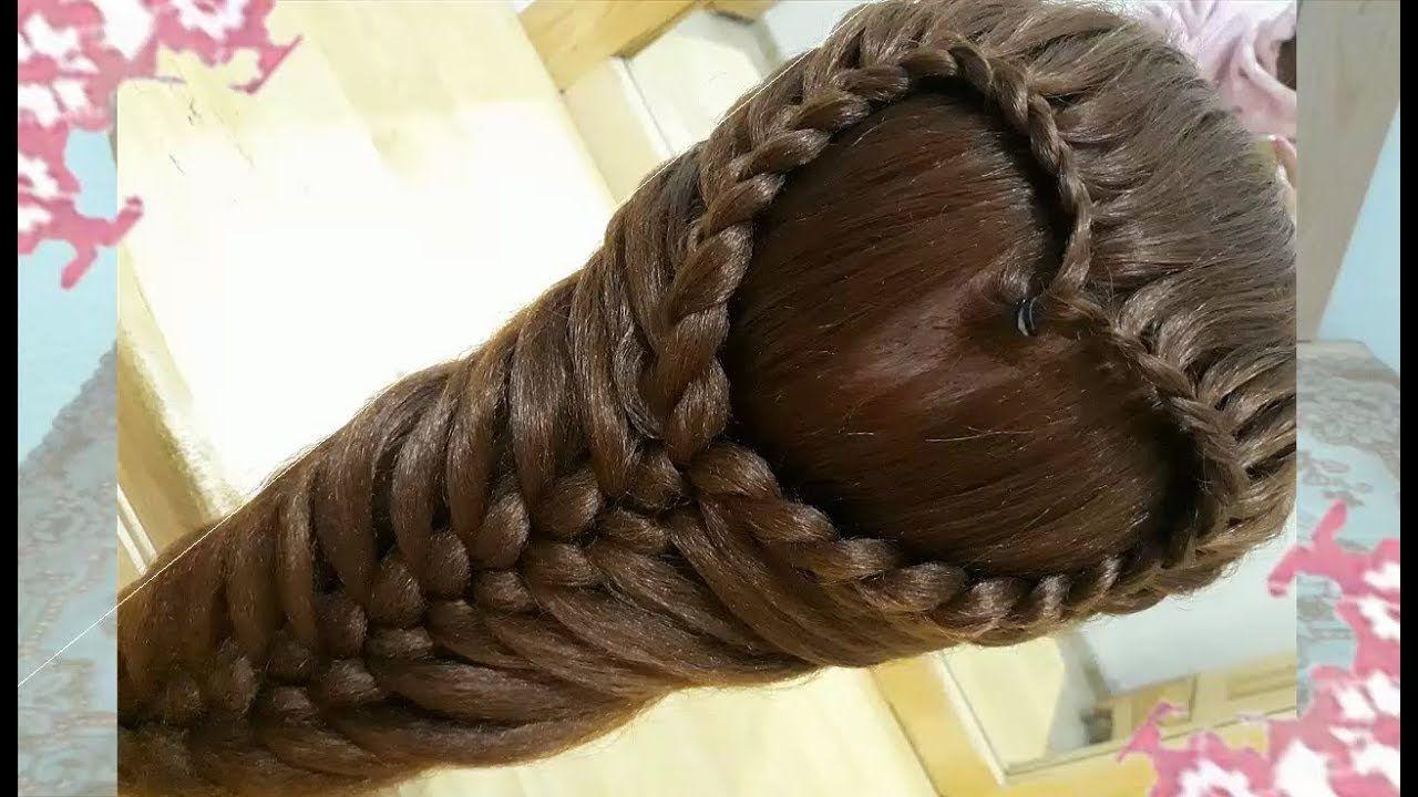 Nuevo peinados de corazon con trenzas faciles rapidos y - Peinados faciles y bonitos ...
