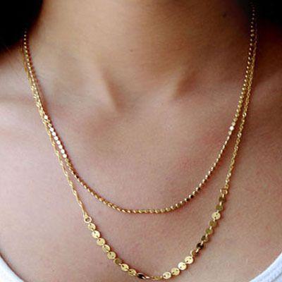 Aliexpress buy hot 2015 fashion summer jewelry 18k simple gold aliexpress buy hot 2015 fashion summer jewelry 18k simple gold chain choker necklace aloadofball Images