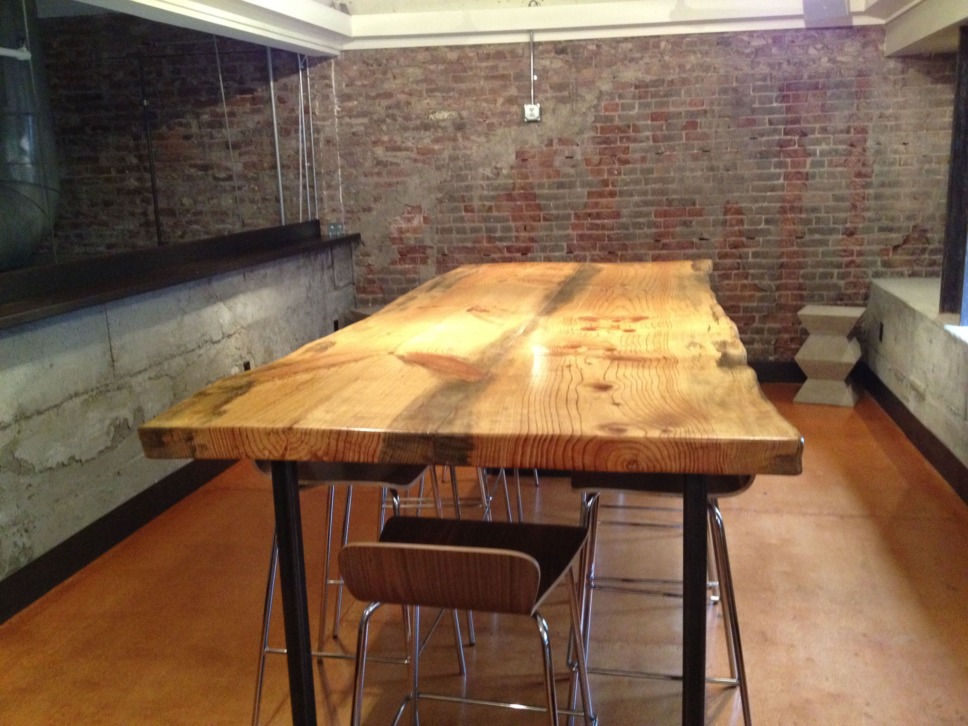 Monterey pine live edge wood slab table live edge wood for Finishing live edge wood