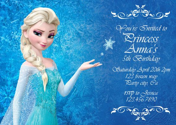 Frozen birthday invitation cards alisha pinterest frozen birthday invitation cards stopboris Gallery