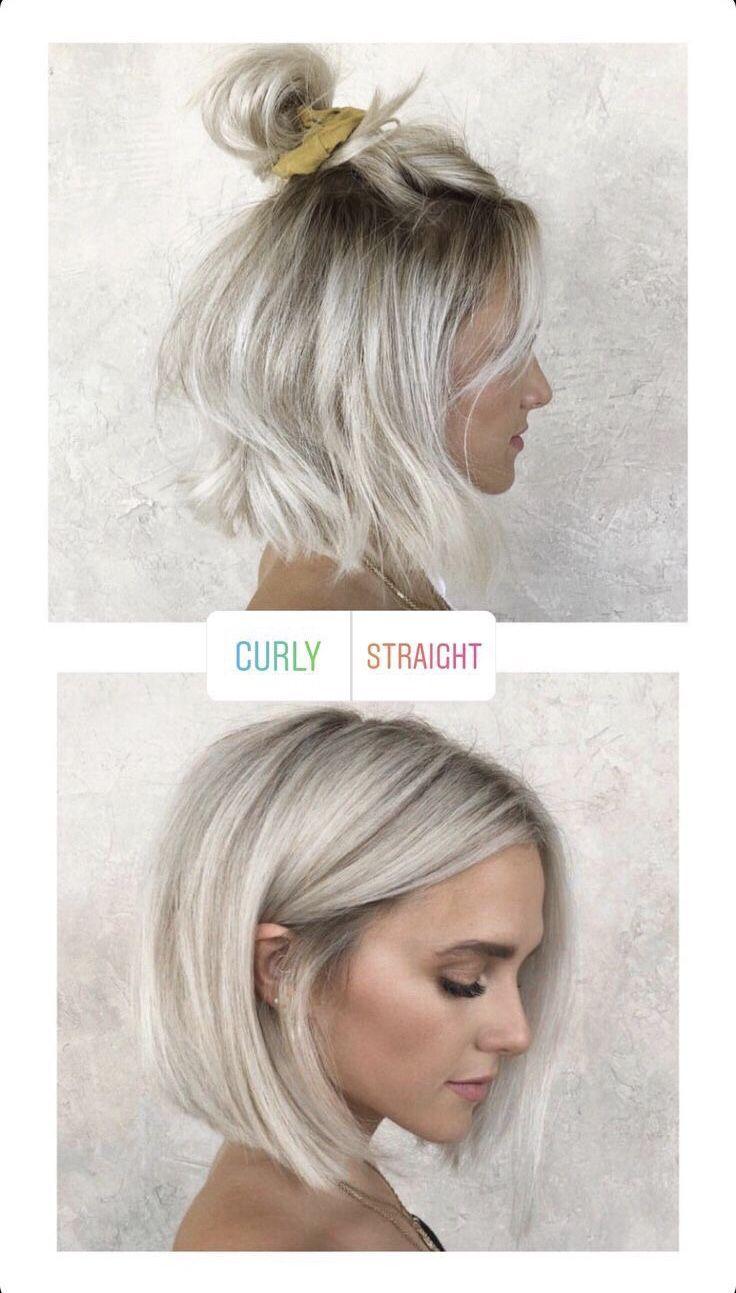 Platinum Bob Style Hair Styles Platinum Blonde Hair Short Hair Styles