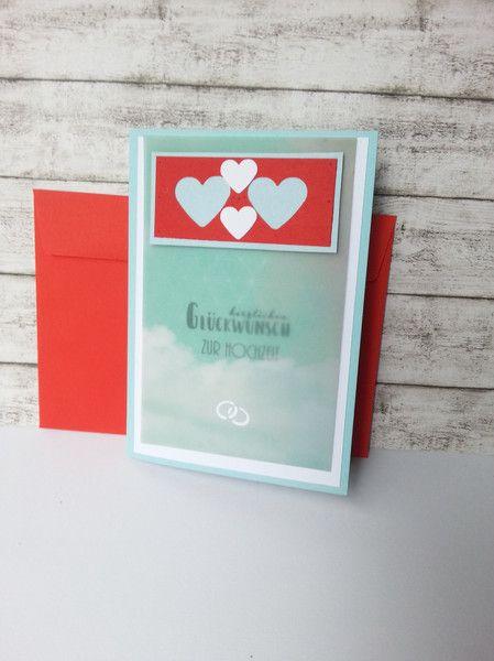 Hochzeitskarten Hochzeitskarte Herzen Transparentpapier W