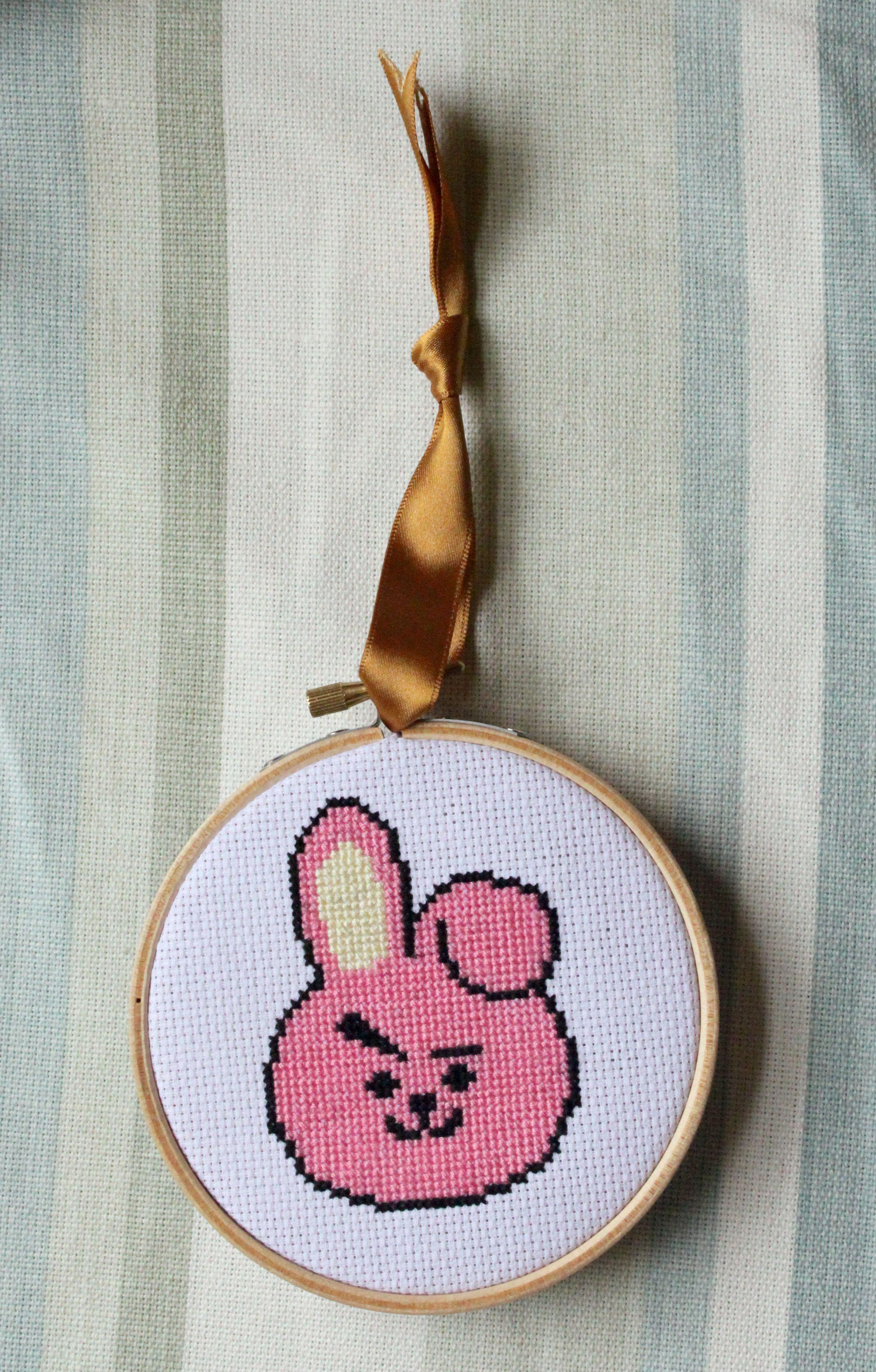 Cooky bt21 bts bangtan boys kpop kpop cross stitch line